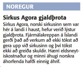 agoragjaldthrota