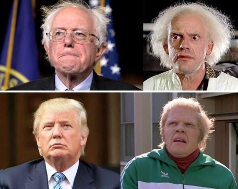 funny_memes_bernie_sanders_donald_trump_back_to_the_future-612678